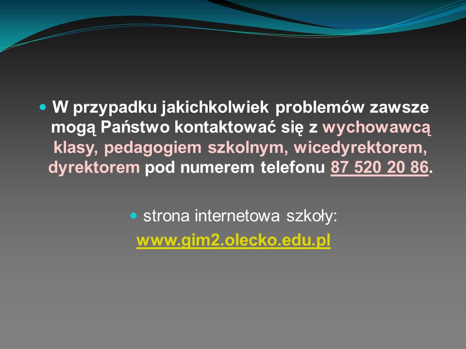 strona internetowa szkoły: