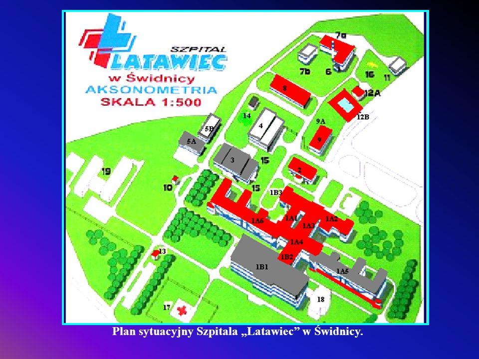 """Plan sytuacyjny Szpitala """"Latawiec w Świdnicy."""