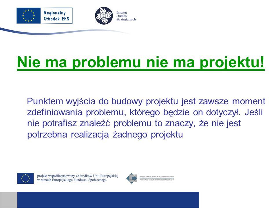 Nie ma problemu nie ma projektu!