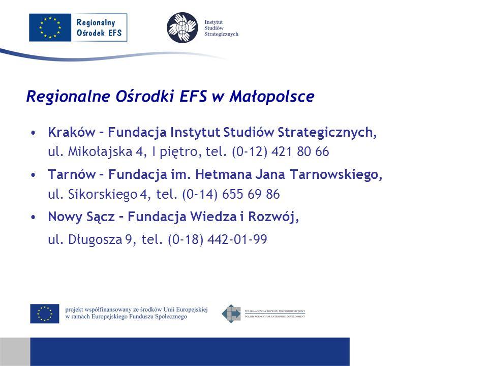 Regionalne Ośrodki EFS w Małopolsce