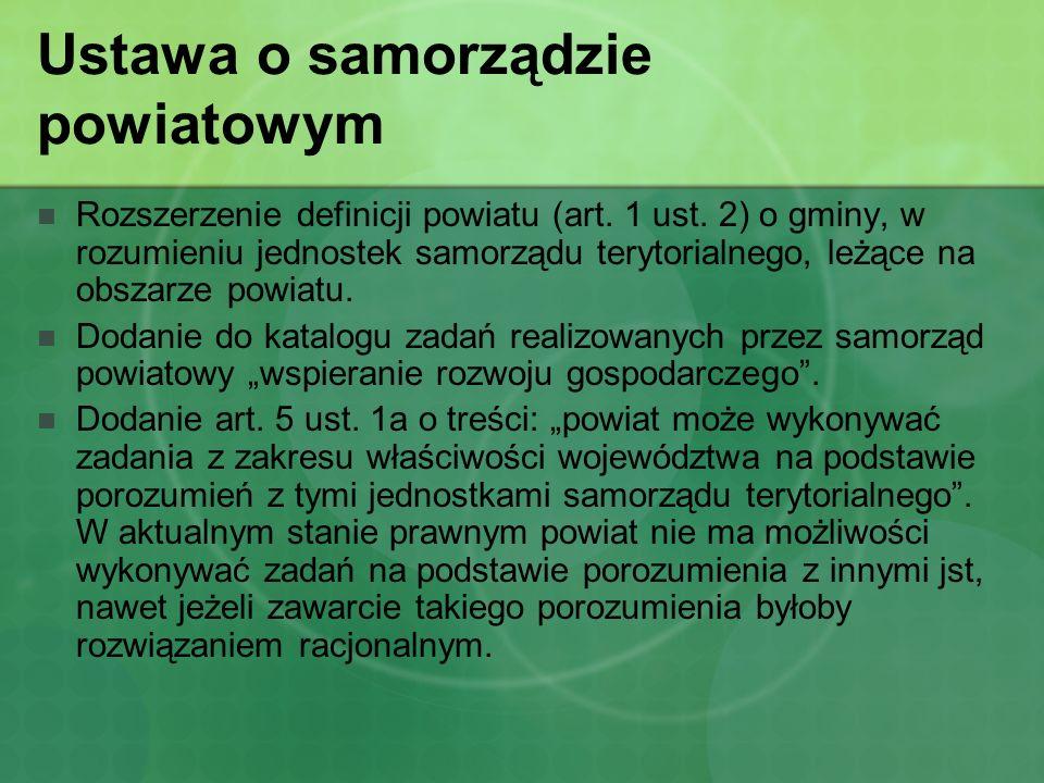 Ustawa o samorządzie powiatowym