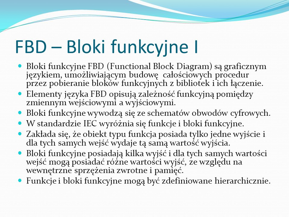 FBD – Bloki funkcyjne I