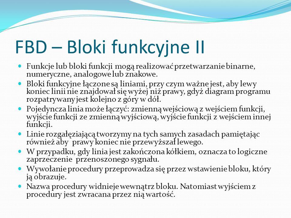 FBD – Bloki funkcyjne II