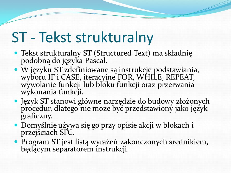 ST - Tekst strukturalny