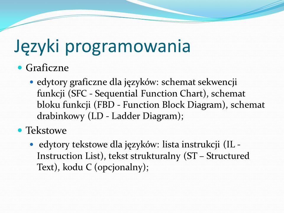 Języki programowania Graficzne Tekstowe