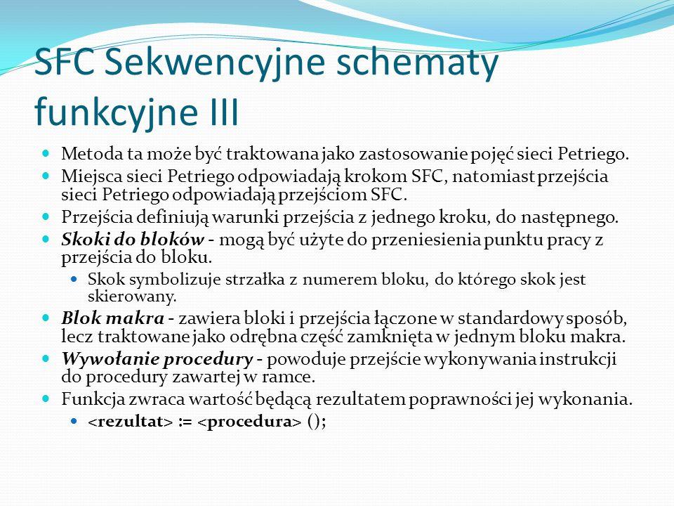 SFC Sekwencyjne schematy funkcyjne III