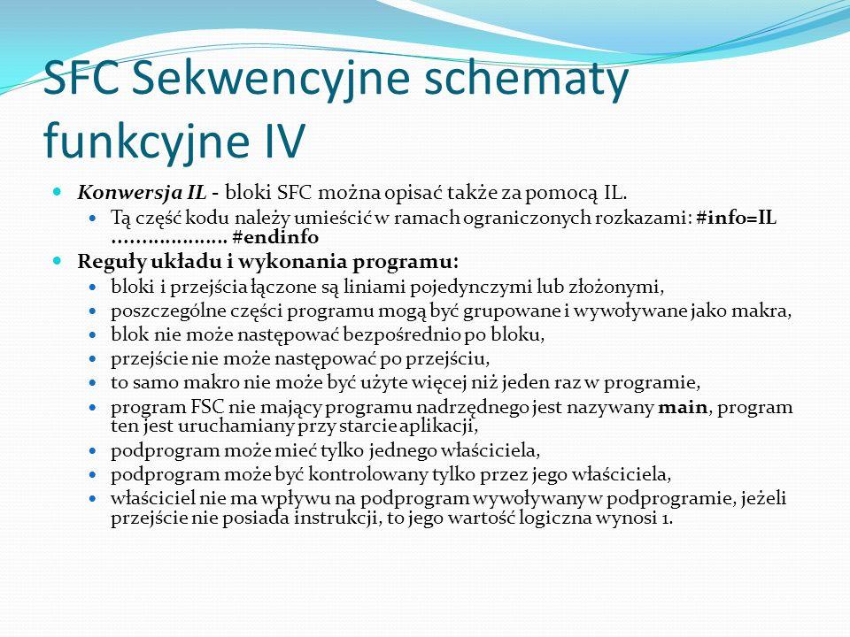 SFC Sekwencyjne schematy funkcyjne IV