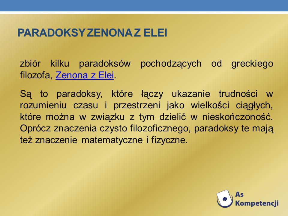 Paradoksy Zenona z Elei