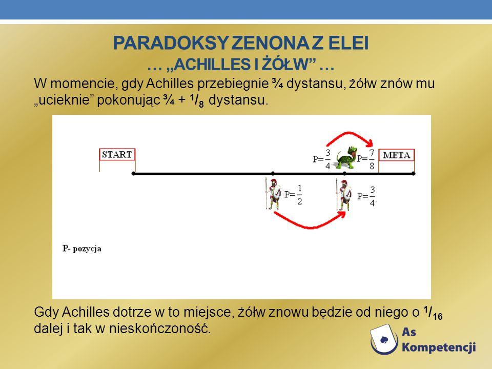 """Paradoksy Zenona z Elei … """"Achilles i żółw …"""