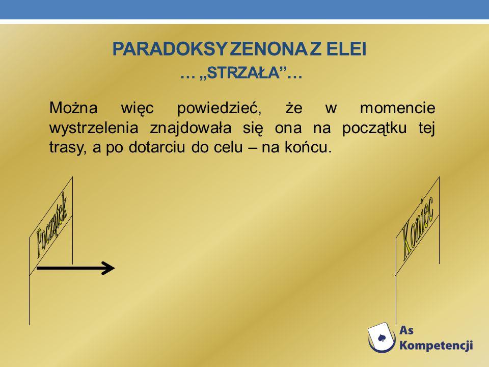 """Paradoksy Zenona z Elei … """"Strzała …"""