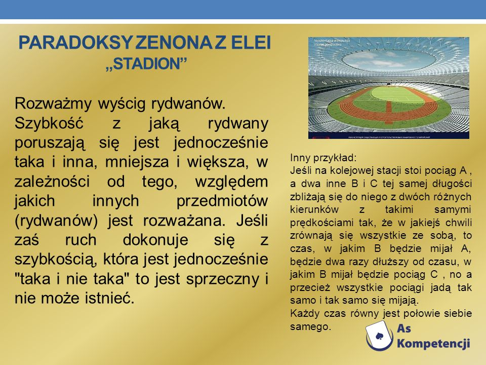"Paradoksy Zenona z Elei ""stadion"