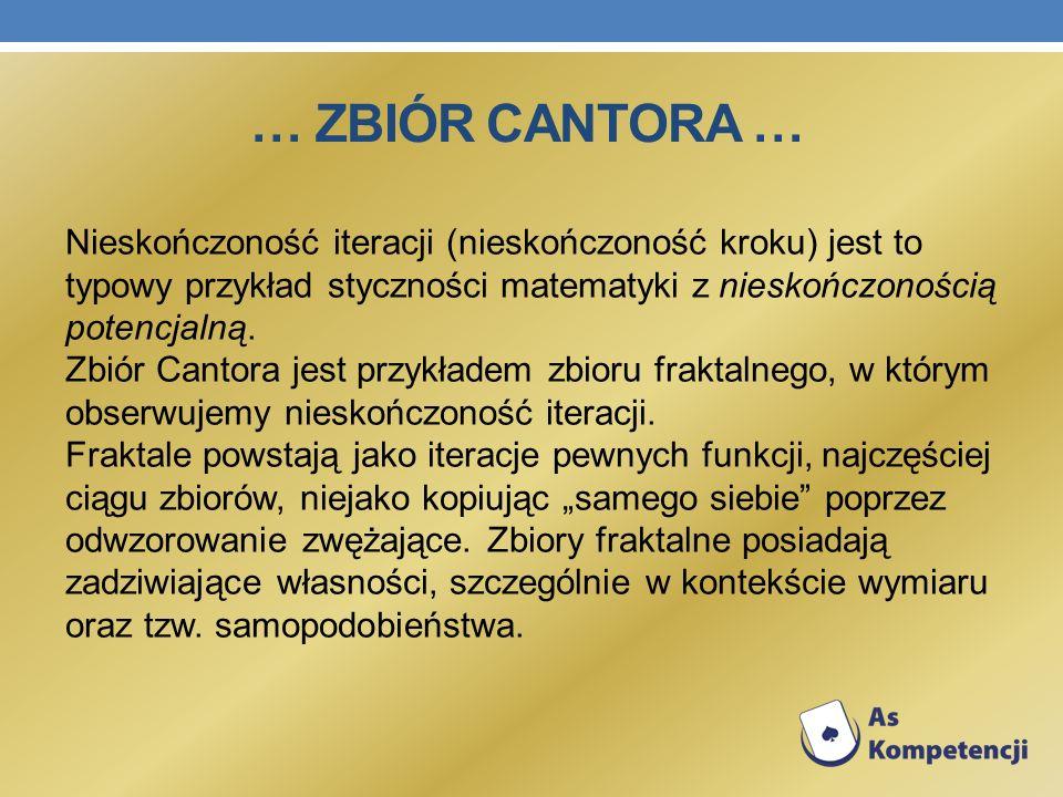 … Zbiór cantora …
