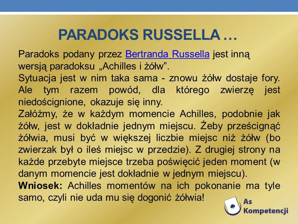 Paradoks Russella …