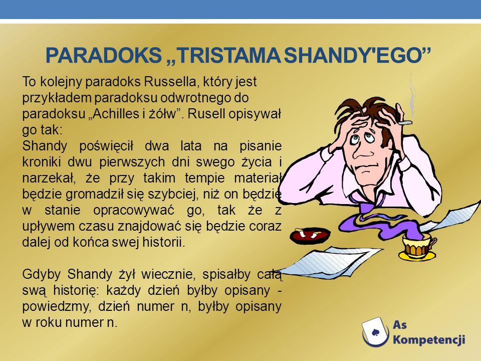 """Paradoks """"Tristama Shandy ego"""