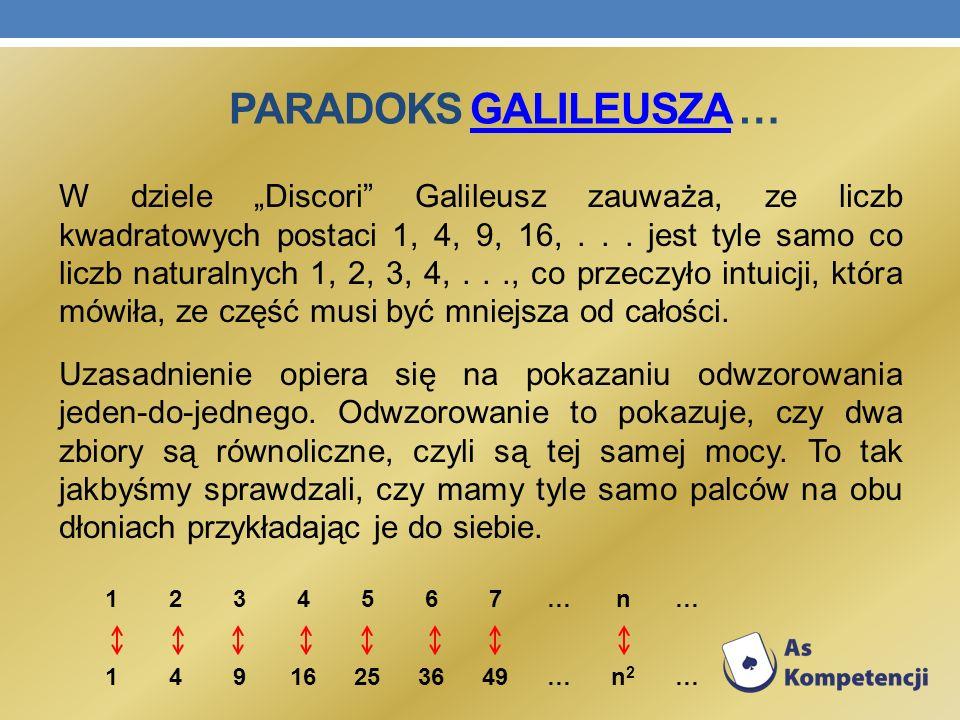 Paradoks Galileusza …