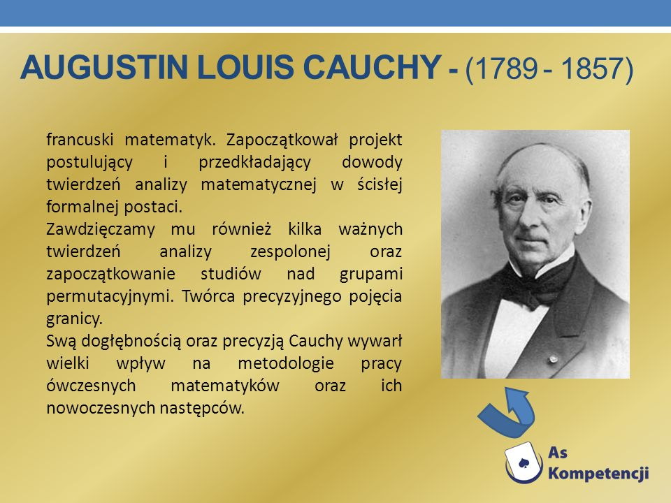 Augustin Louis Cauchy - (1789 - 1857)