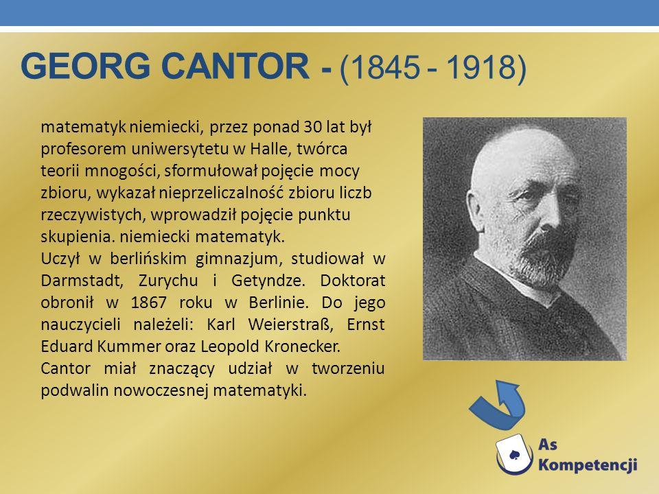 Georg Cantor - (1845 - 1918)