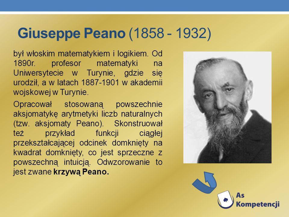 Giuseppe Peano (1858 - 1932)