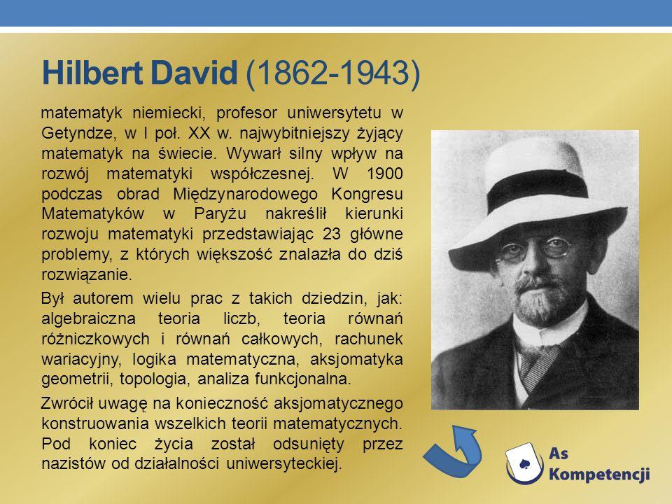 Hilbert David (1862-1943)
