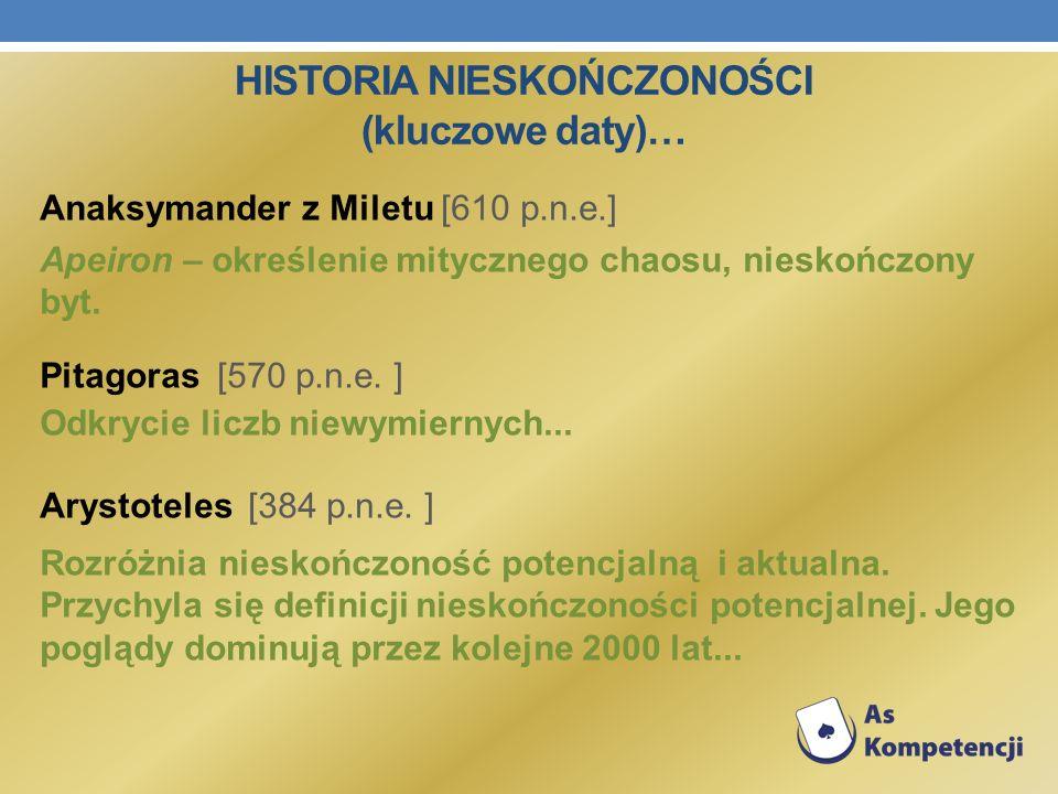 Historia nieskończoności (kluczowe daty)…