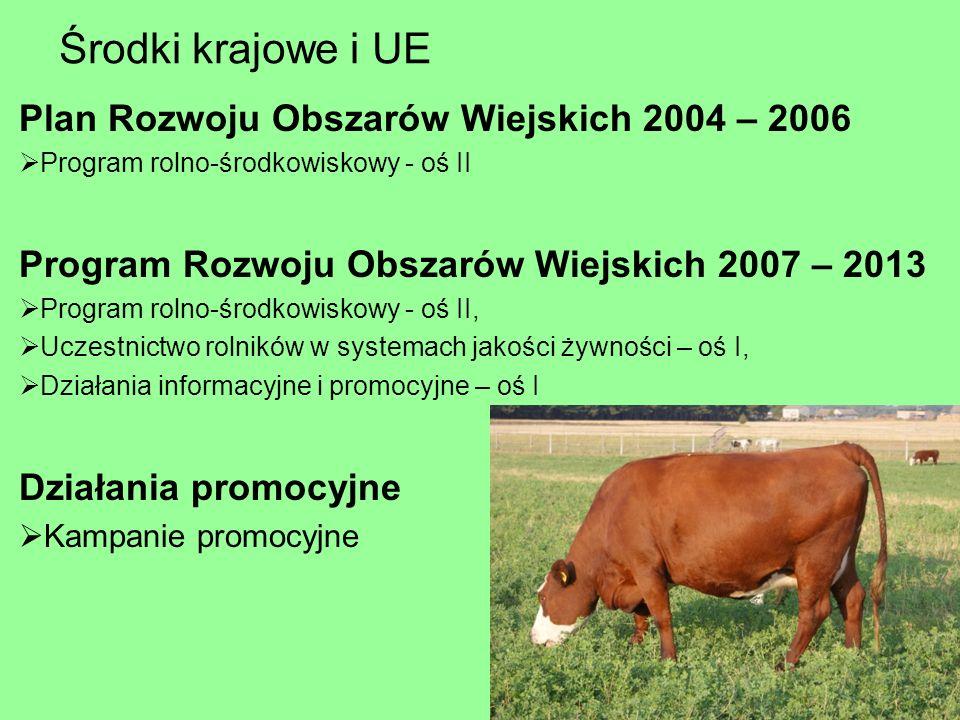Środki krajowe i UE Plan Rozwoju Obszarów Wiejskich 2004 – 2006