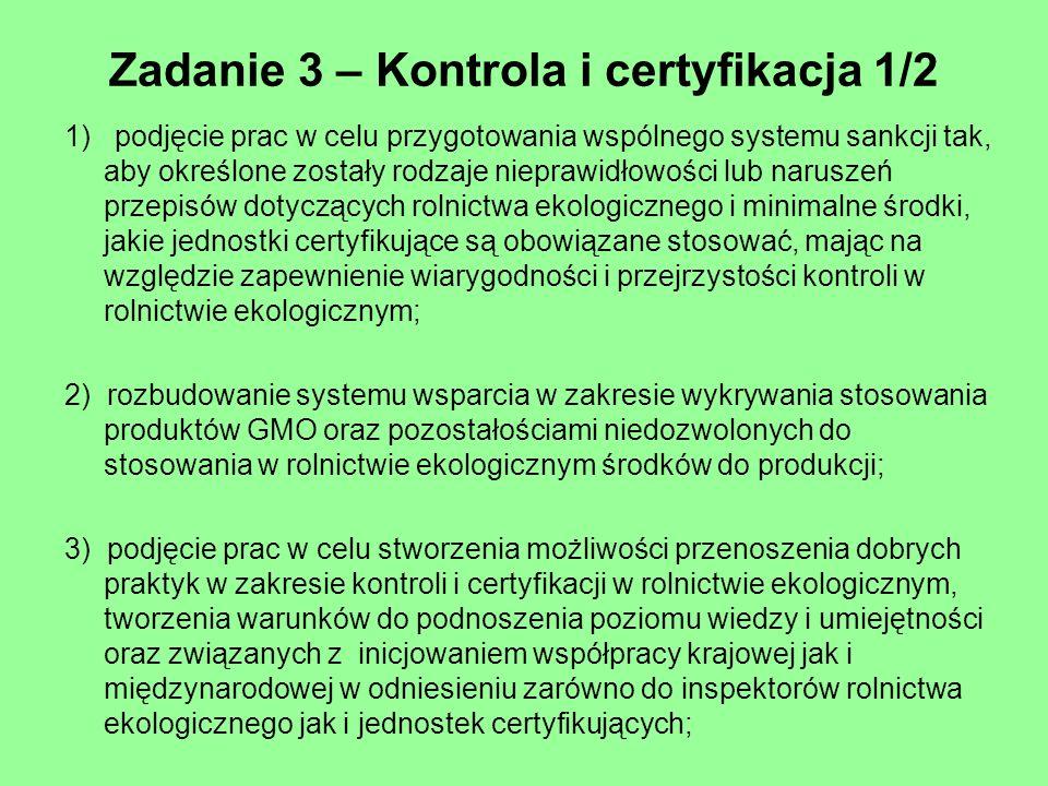 Zadanie 3 – Kontrola i certyfikacja 1/2