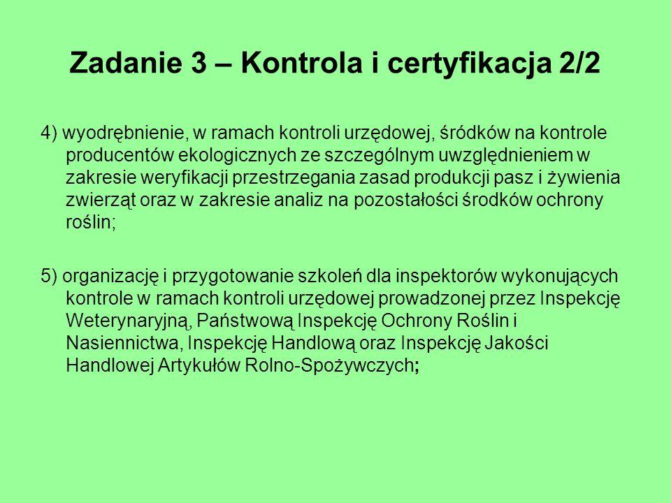 Zadanie 3 – Kontrola i certyfikacja 2/2