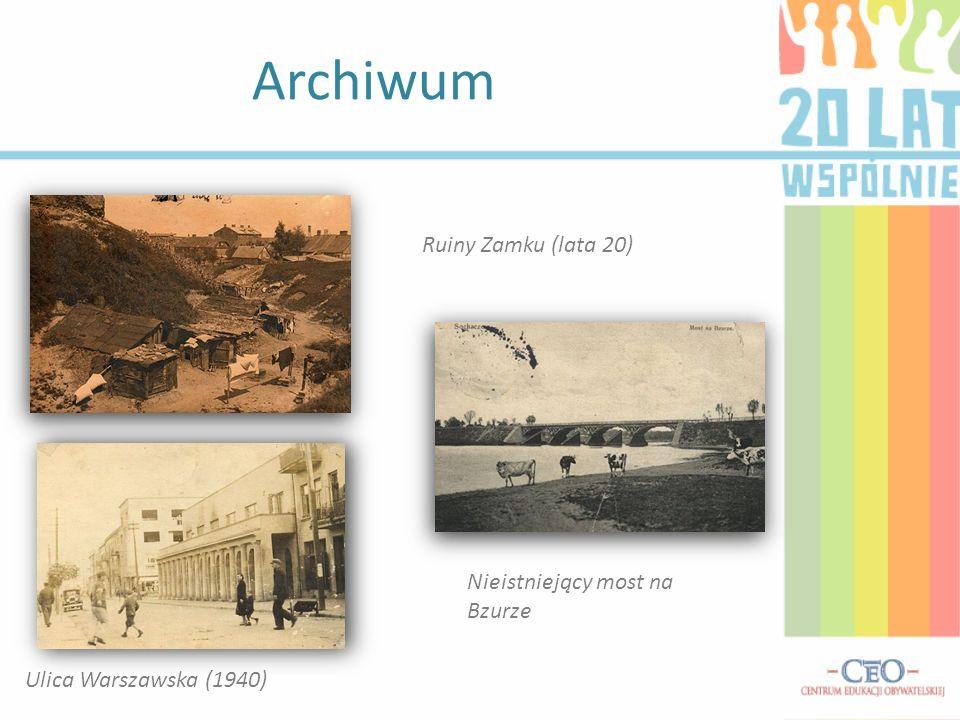 Archiwum Ruiny Zamku (lata 20) Nieistniejący most na Bzurze