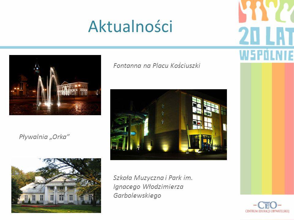 """Aktualności Fontanna na Placu Kościuszki. Pływalnia """"Orka Szkoła Muzyczna i Park im."""