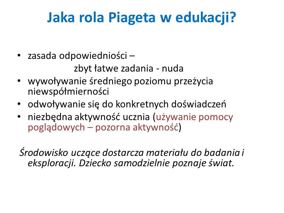 Jaka rola Piageta w edukacji