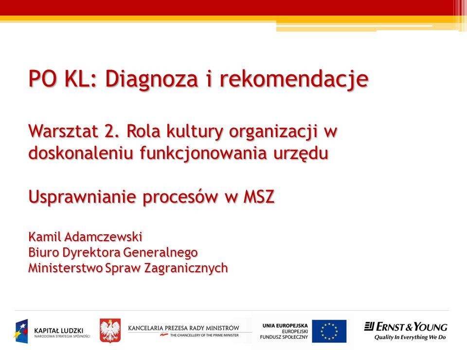PO KL: Diagnoza i rekomendacje Warsztat 2