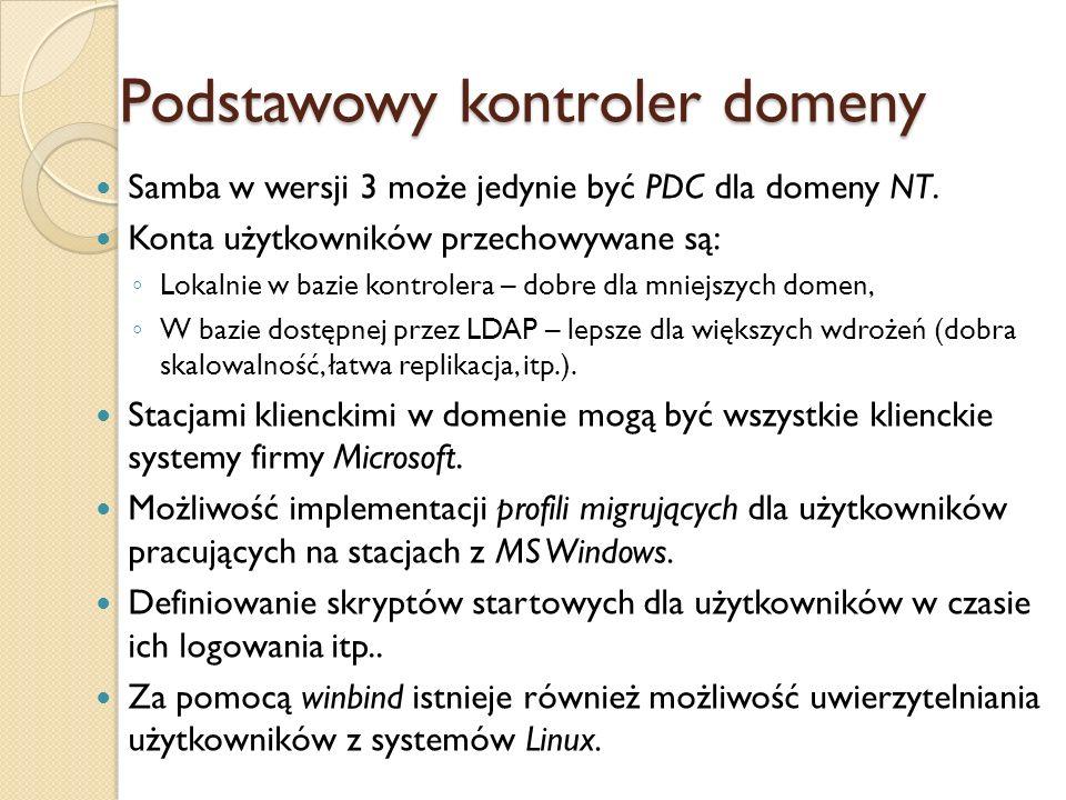 Podstawowy kontroler domeny