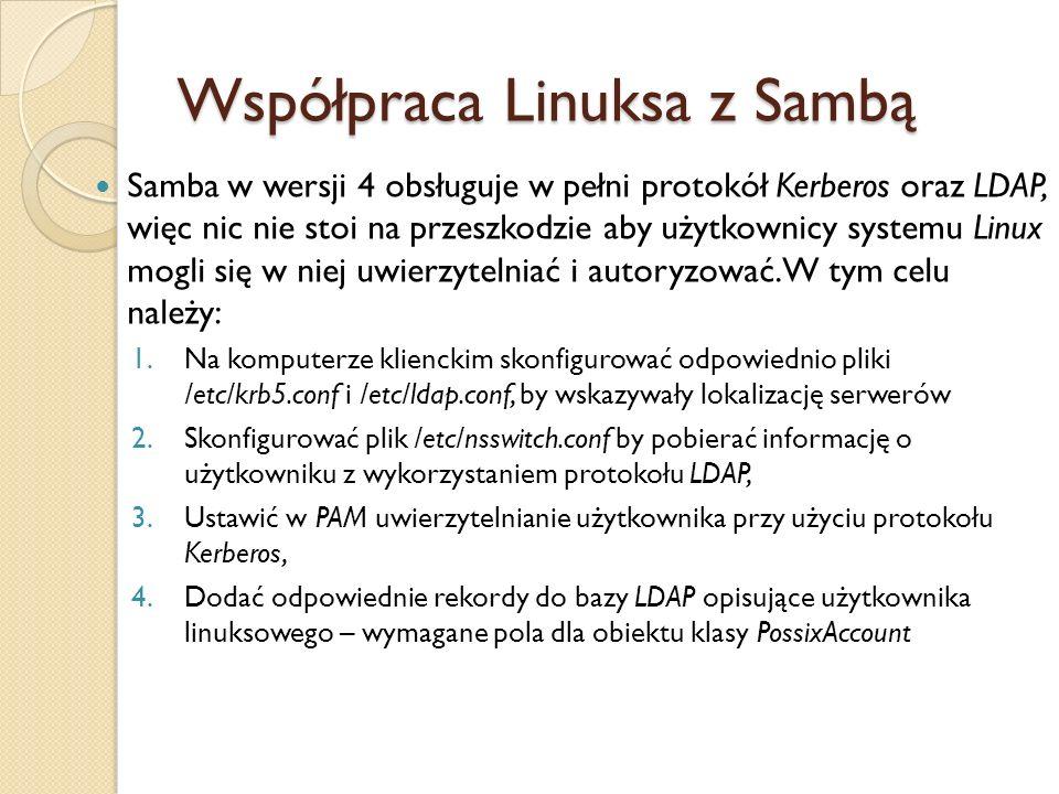 Współpraca Linuksa z Sambą