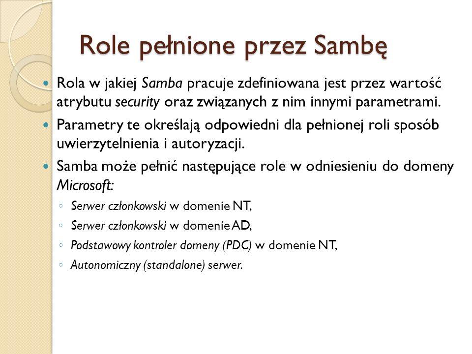 Role pełnione przez Sambę