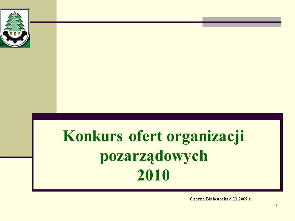 Konkurs ofert organizacji pozarządowych 2010