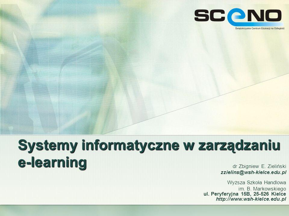 Systemy informatyczne w zarządzaniu e-learning