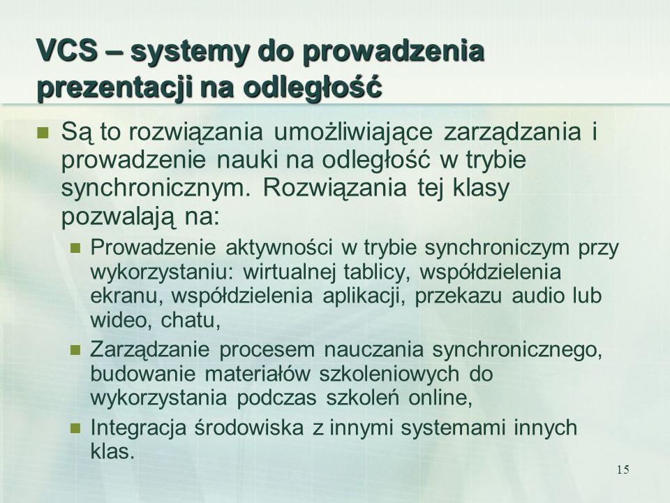 VCS – systemy do prowadzenia prezentacji na odległość