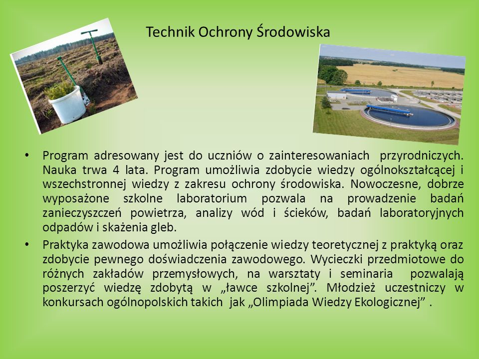 Technik Ochrony Środowiska