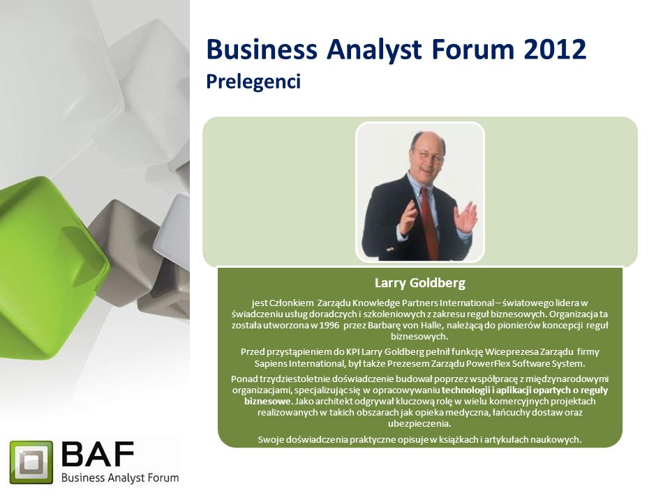 Business Analyst Forum 2012 Prelegenci