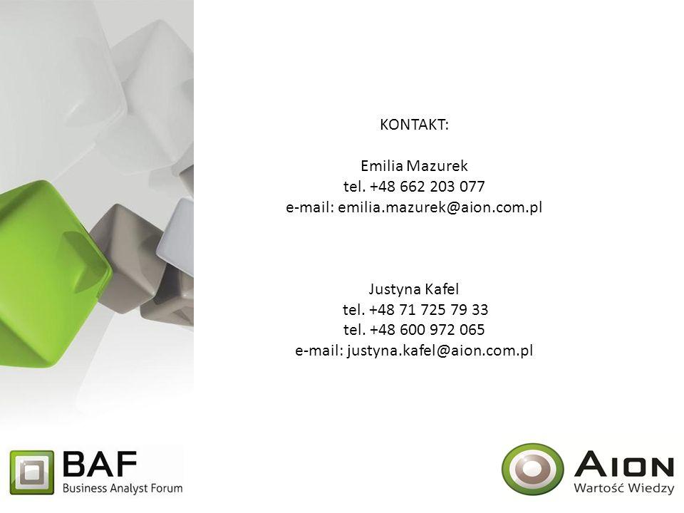 Kontakt: Emilia Mazurek tel. +48 662 203 077 e-mail: emilia