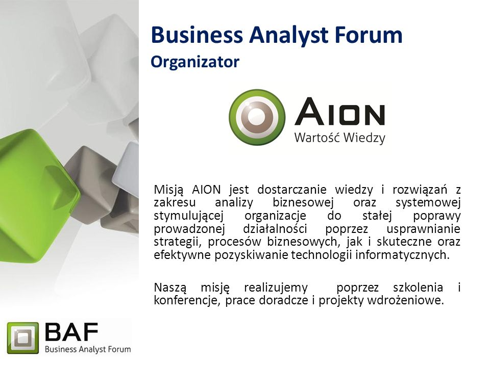 Business Analyst Forum Organizator