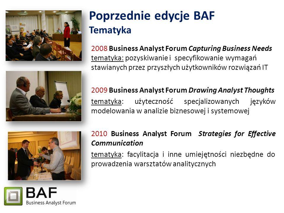 Poprzednie edycje BAF Tematyka