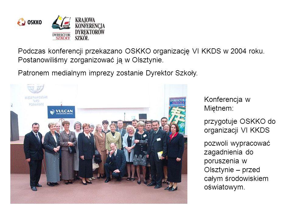 Podczas konferencji przekazano OSKKO organizację VI KKDS w 2004 roku