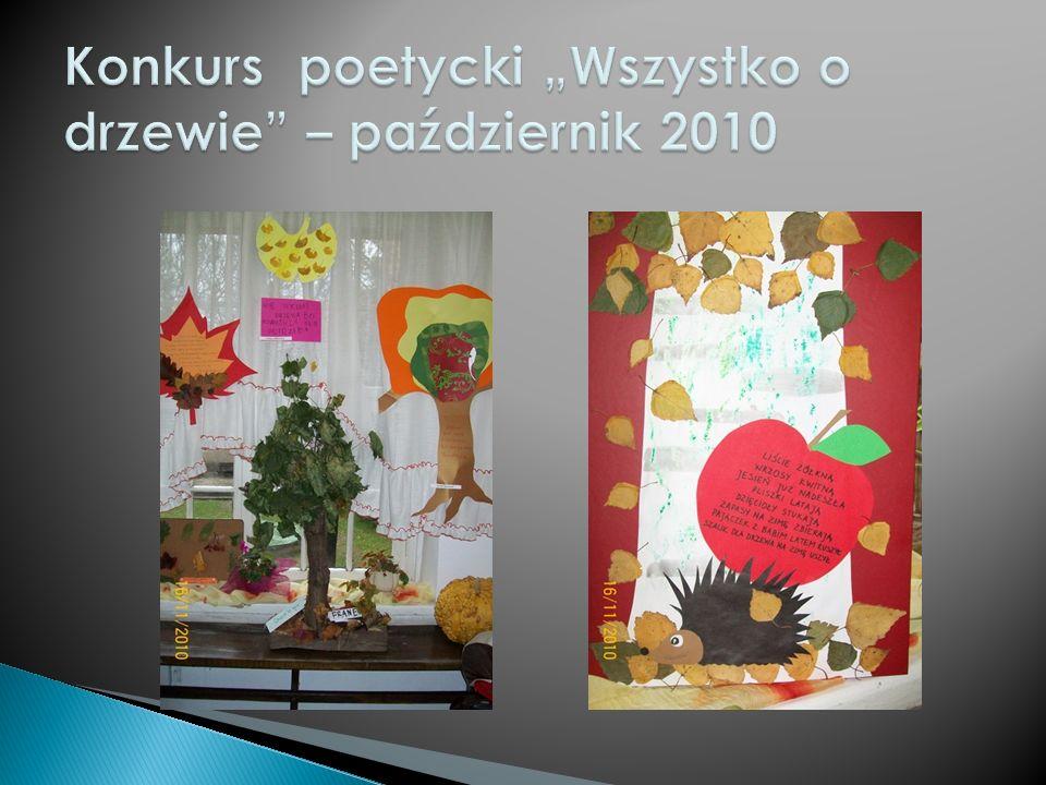 """Konkurs poetycki """"Wszystko o drzewie – październik 2010"""