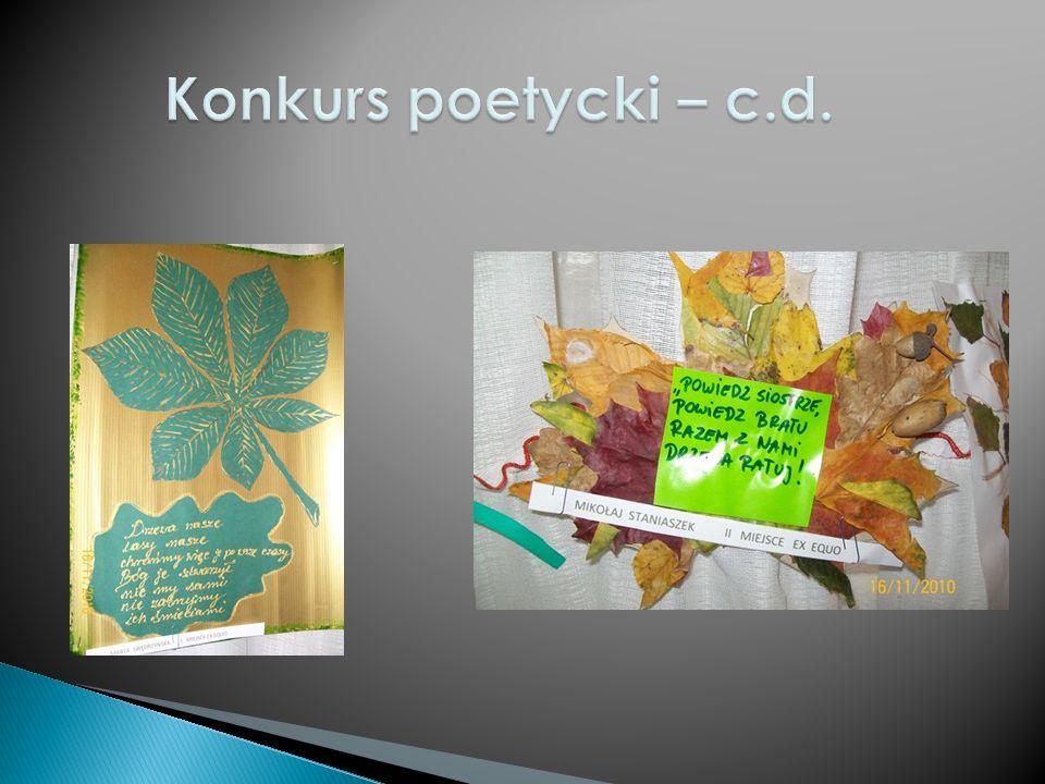 Konkurs poetycki – c.d.