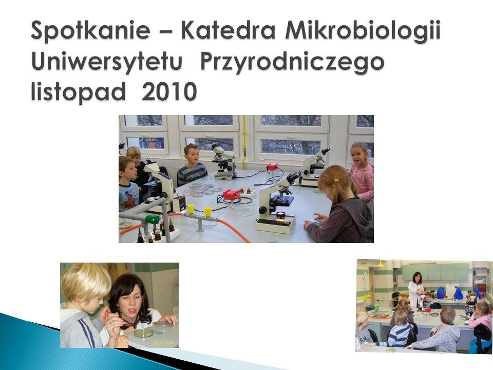 Spotkanie – Katedra Mikrobiologii Uniwersytetu Przyrodniczego listopad 2010