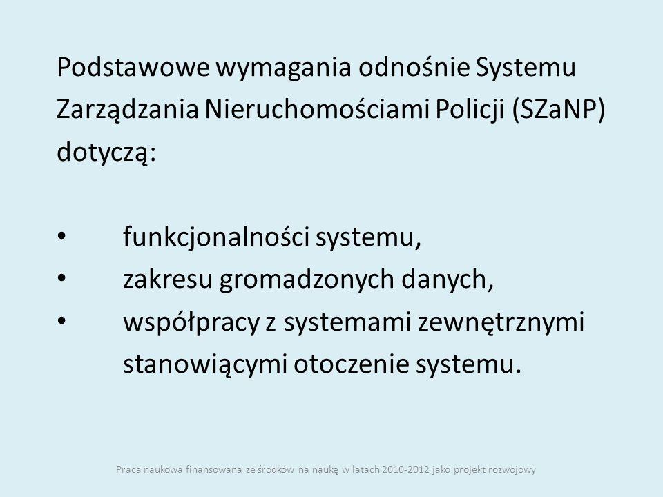 Podstawowe wymagania odnośnie Systemu