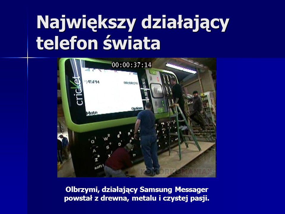 Największy działający telefon świata