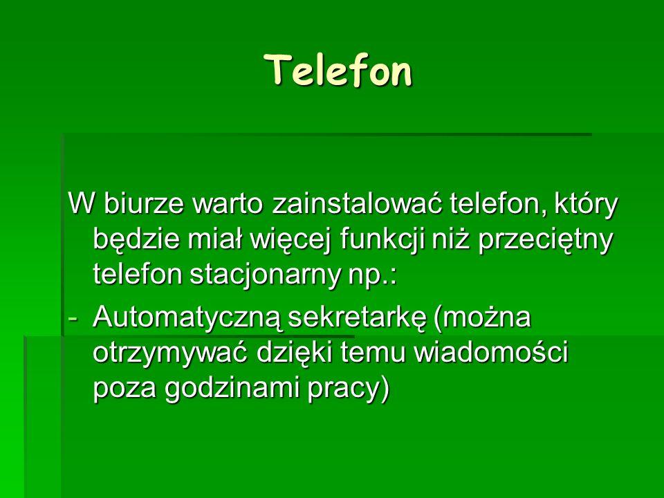 Telefon W biurze warto zainstalować telefon, który będzie miał więcej funkcji niż przeciętny telefon stacjonarny np.: