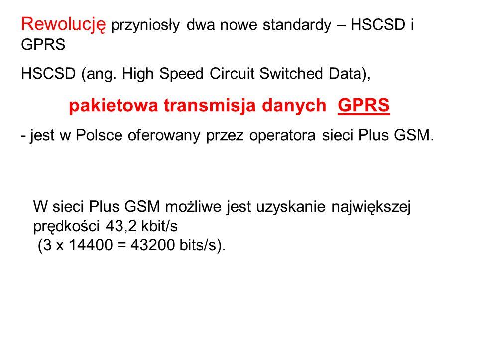 Rewolucję przyniosły dwa nowe standardy – HSCSD i GPRS